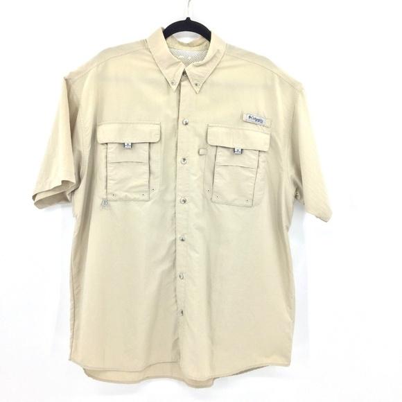 27fb4bdfb24 Columbia Shirts   Mens Omni Shade Khaki Vented Shirt Xl   Poshmark